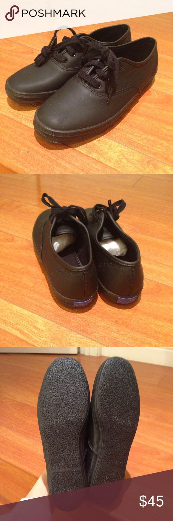 NWOT Keds Black Leather Sneakers NWOT Keds Black Leather Sneakers Keds Shoes Sneakers