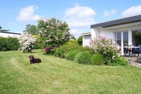 Ferienhaus mit Hund eingezäunter Garten Eingezäunter