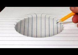 Zeichenkunst Linie optische Täuschungen 65 Ideen