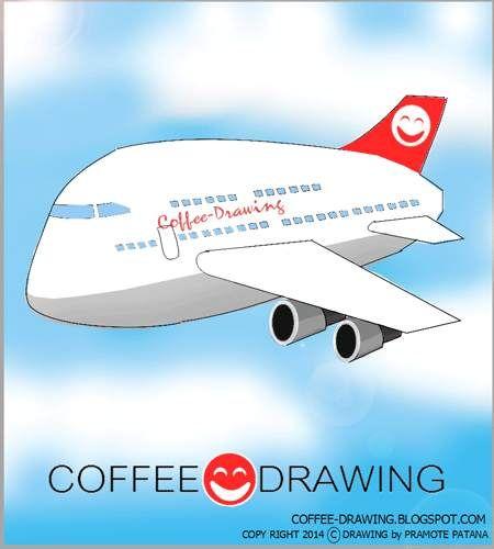 "COFFEE-DRAWING: สอนเด็กวาดรูป PART 63 "" เครื่องบิน """
