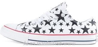 Fashion White Converse \'chuck Taylor All Star\' Star Print Sneakers - Womens - Women Size:3,4,4.5,5.5,6 - Canada online sale