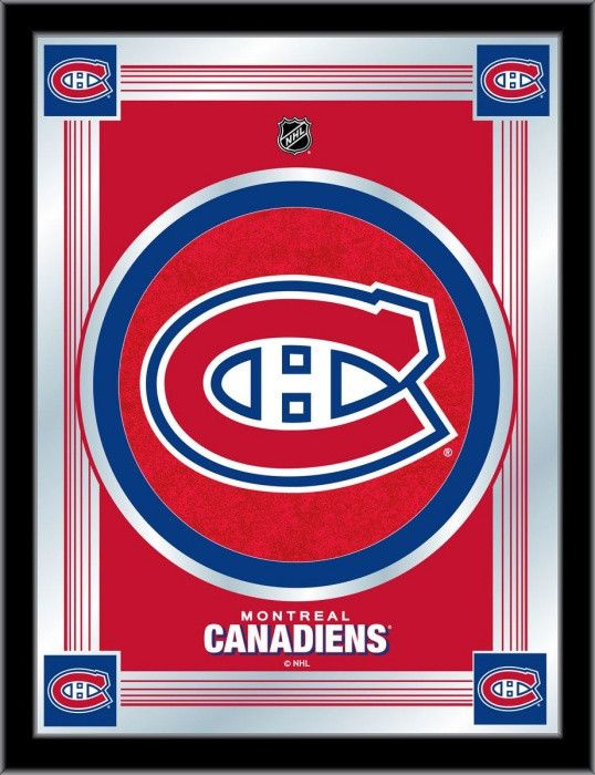 Montreal Canadiens NHL Logo Mirror - Visit SportsFansPlus.com for Discount Coupon!