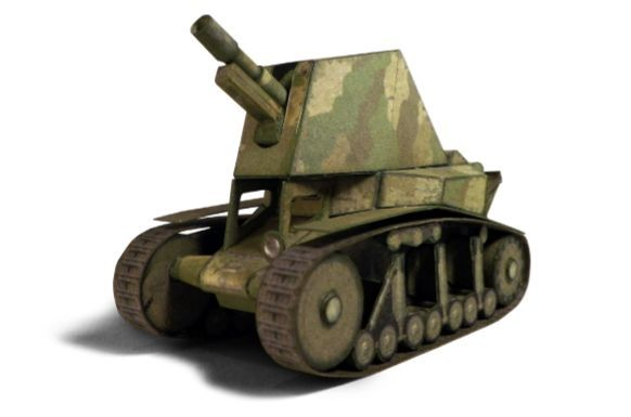World of Tanks - Simple SU-18 Self-Propelled Artillery Free Paper Model Download