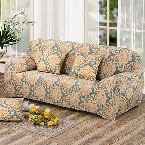 YUTIANHOME Sofa Covers 1Piece Polyester Spandex Fabric Stretch Slipcover for Living Room
