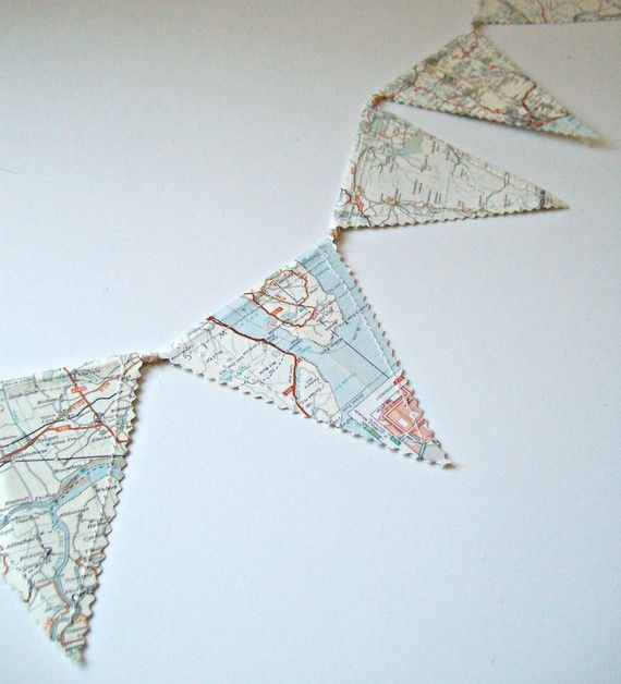 Map banner. Great idea for a travel photo display.