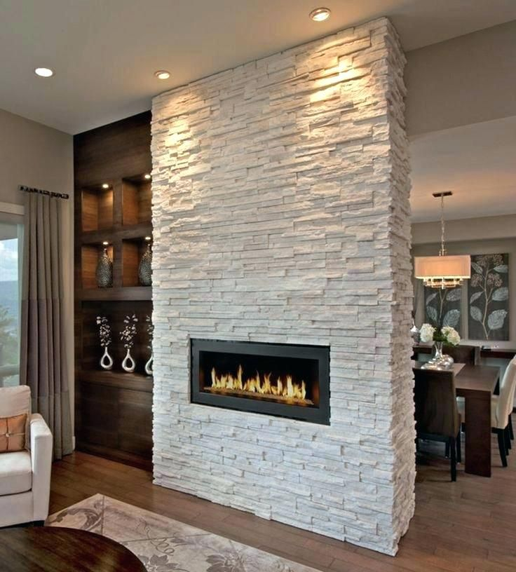 Interior Fireplace Rock Wall Stylish Stack Stone Fireplaces With