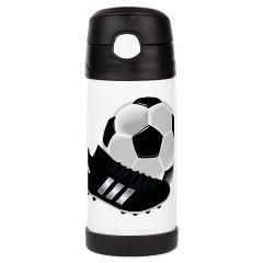 Football And Boots Insulated Cold Beverage Bottle> Football Boots And Ball> cuteness