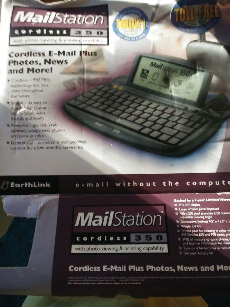 Mailstation 350 Earthlink Cordless Email 2002 Old School Tech  #Earthlink