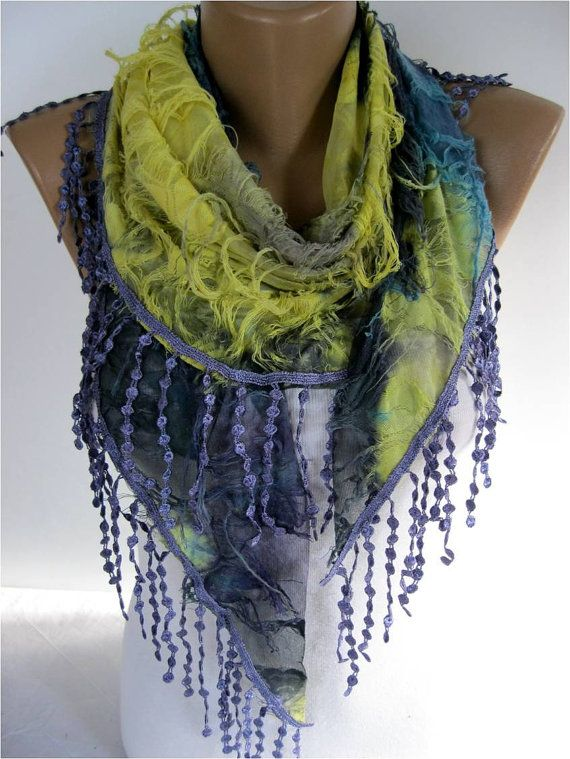 ON SALE   Elegant Purple Multicolor Scarf  Cowl with by MebaDesign, $15.90