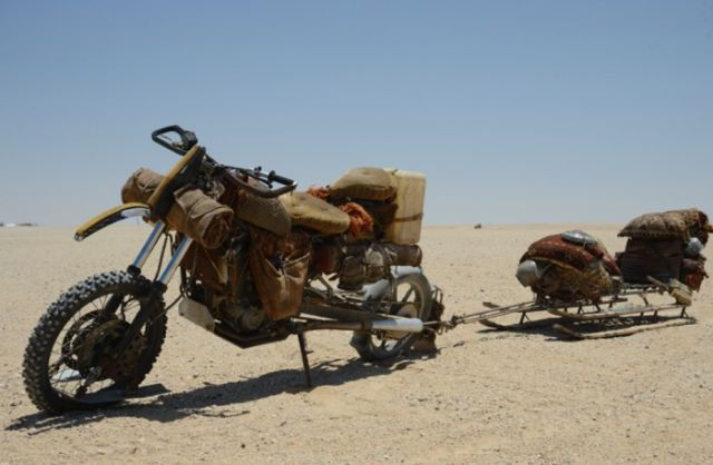 "Custom Motorcycle from ""MAD MAX : FURY ROAD"" YAMAHA  XTZ660Z Tenere #motorcycle…"