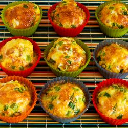 Kalyn's Kitchen®: Recipe for Egg Muffins with Ham, Cheese, and Green Bell Pepper