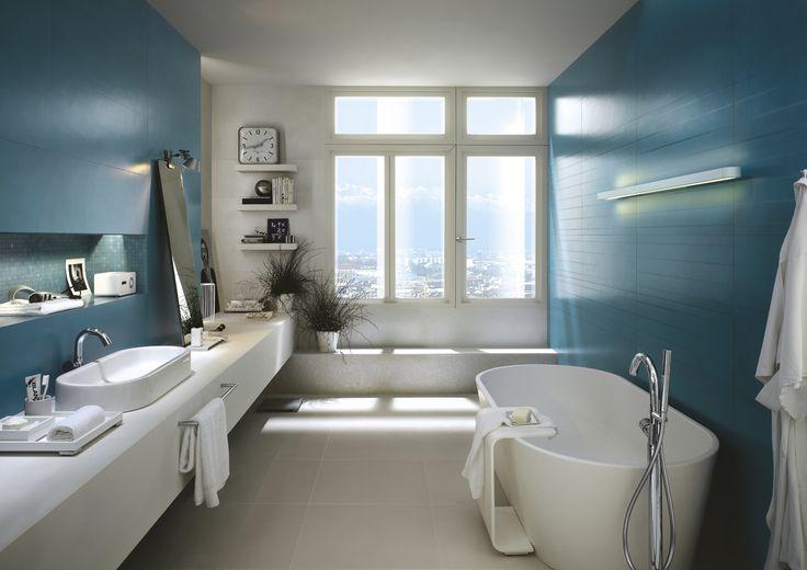 #Marazzi Concreta - bathroom wall ceramic tiles #ModenaFliser