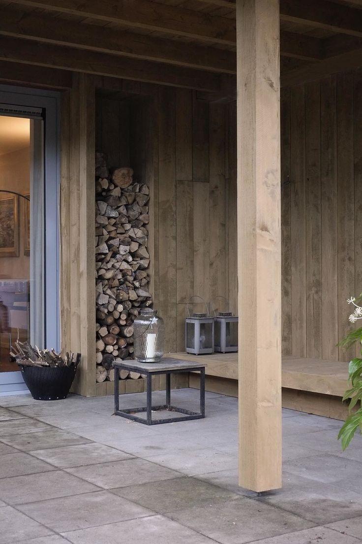 20 beste idee n over achtertuin open haard op pinterest - Opslag terras ...
