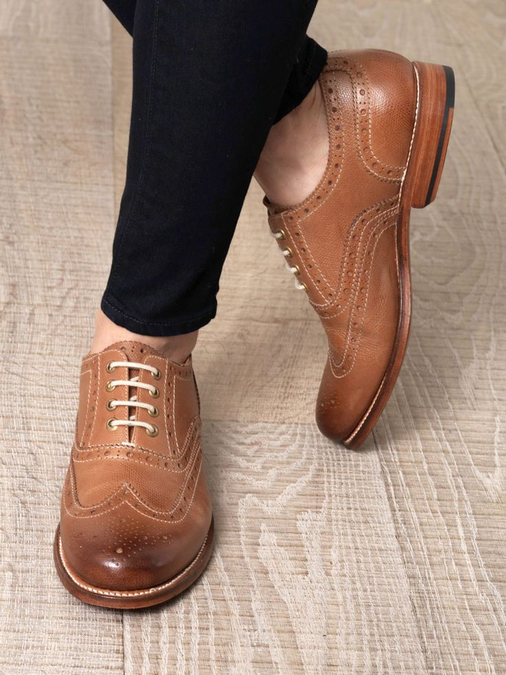 Grenson Rose wing-tip brogues