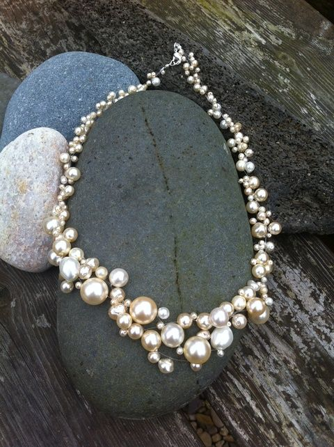 Cream Pearl Multi-strand Necklace £20.00