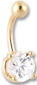 14K GOLD 14G JEWELLED FANCY BANANA  LENGTH 3/8'' (10mm) WITH STONE 9/32'' (7mm) ONLY CRYSTAL COLOR AVAILABLE *** GOLD-FILLED