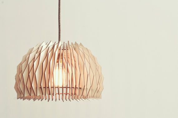 The Bow Staggered Lampshade - wooden lamps / laser cut plywood / kitchen lamp…