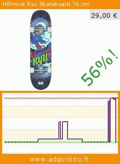 Hillmore Ryu Skateboard 76 cm (Sport). Réduction de 56%! Prix actuel 29,00 €, l'ancien prix était de 66,35 €. https://www.adquisitio.fr/hillmore/ryu-skateboard-76-cm