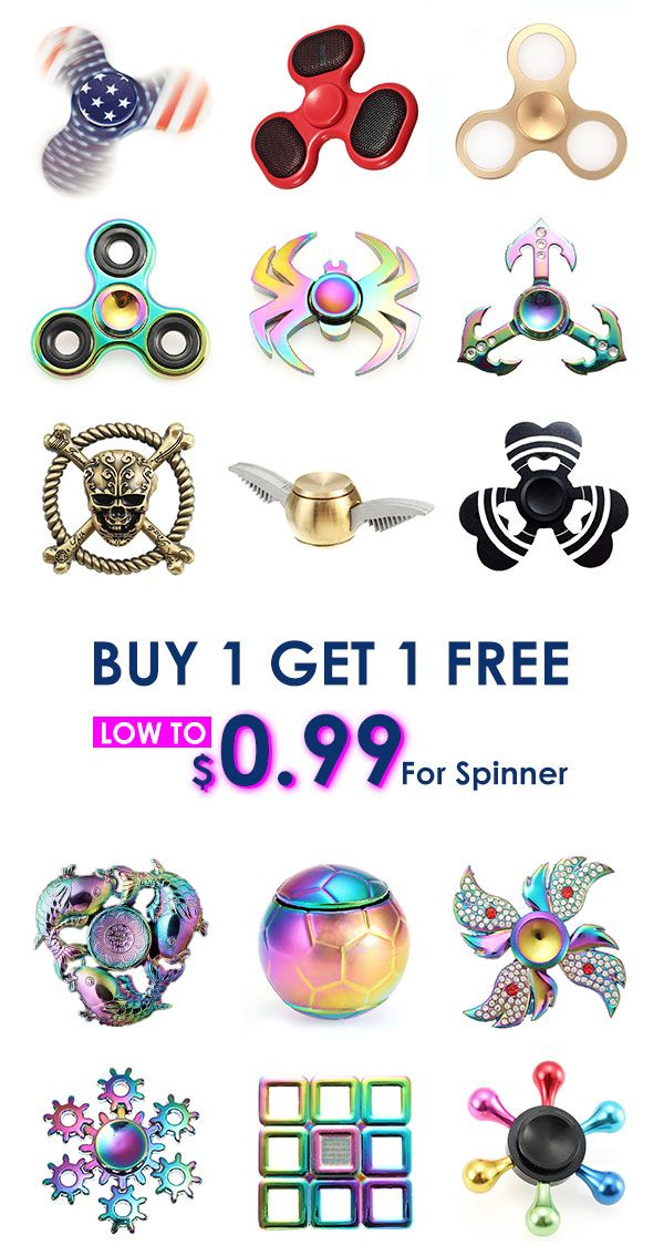 Low to $0.99 for spinner+Free shipping. Buy 1 get 1 free! Fun&Cheap. Shop now!