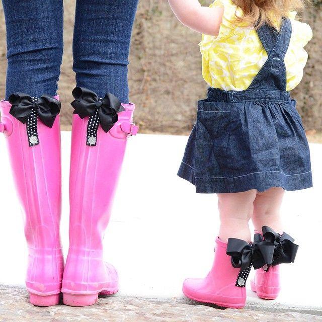 Poppy clips for rainboots Hunter boots themrsgibby