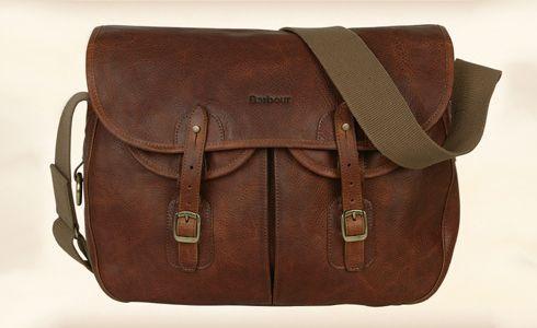 Barbour Tarras Leather Messenger Bag