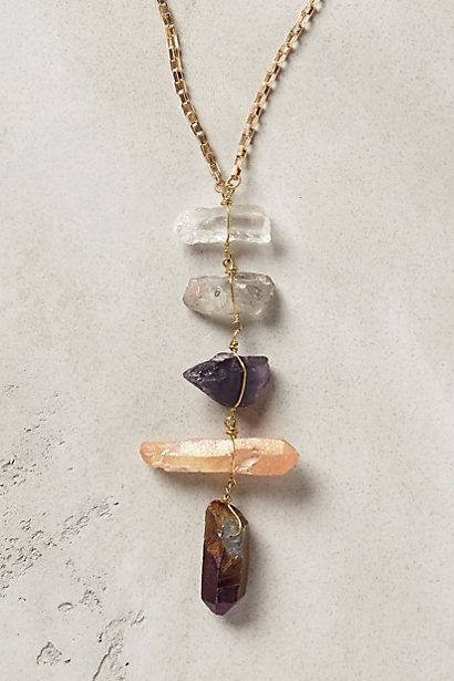 quartz necklace /anthropologie