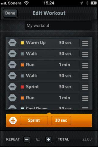 interval running app treadmill running app