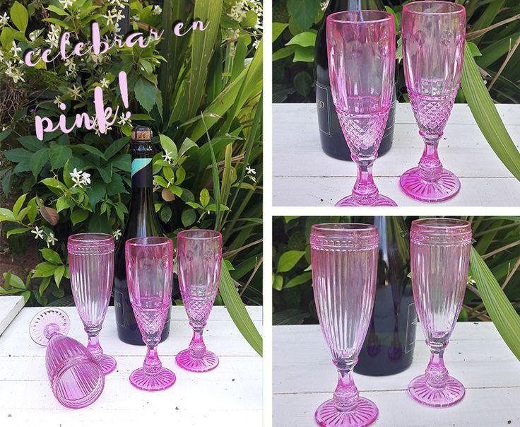 Genial! copas pink para brindar con las amigas :) me encanta!