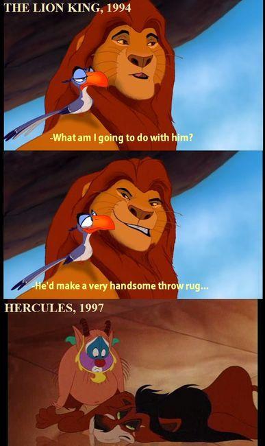 : Throw Rugs, Lion Kings, Hercules, Well Plays, Funny, Kids Movie, Disney Humor, The Lion King, Disney Movie