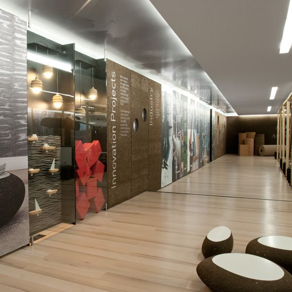 Project for a Showroom and Board Meeting Room for Amorim Cork Composites, Mozelos, Portugal