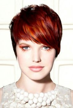 Short Pixie with Highlighted Bangs