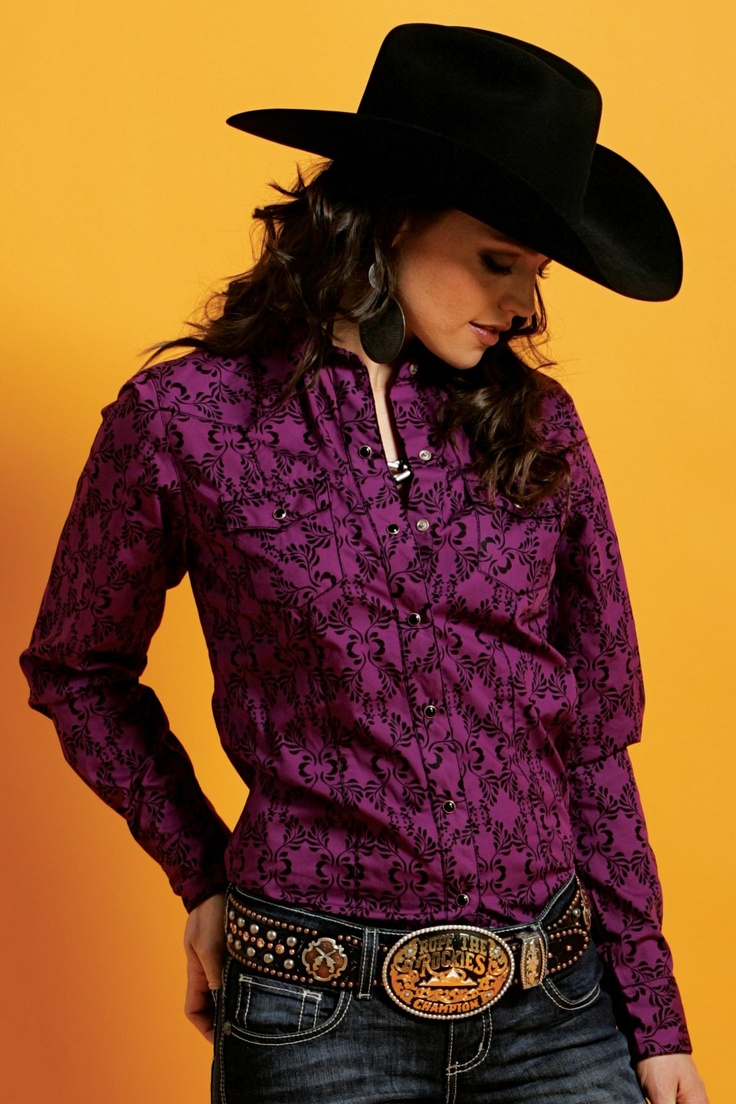 Western Shirts : Purple Print Shirt - Cruel Jeans, Shirts and Apparel