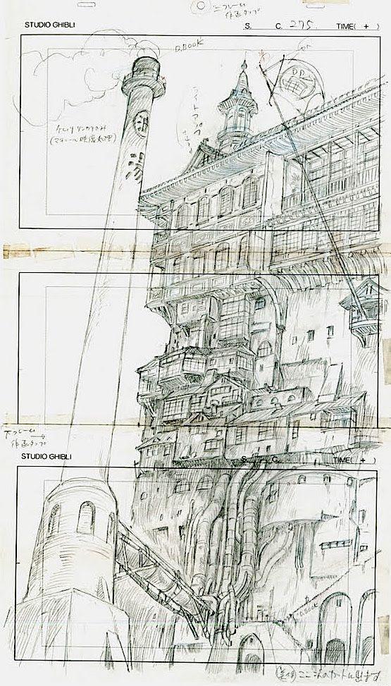 Film: Spirited Away (千と千尋の神隠し) ===== Layout Design - Scene: The Bath House ===== Hayao Miyazaki