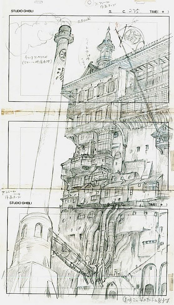 Film: Spirited Away (千と千尋の神隠し) ===== Layout Design - Scene: The Bath House…