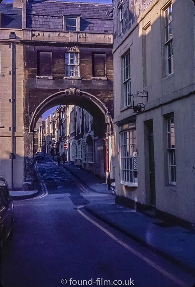 Trim bridge and Queen Street in Bath, 1972