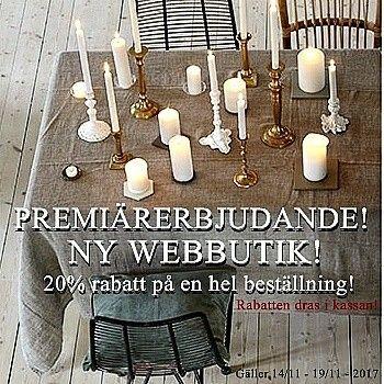 Ny webbutik!  www.rustiktochfint.se Premiärerbjudande: 20% rabatt på all inredning!