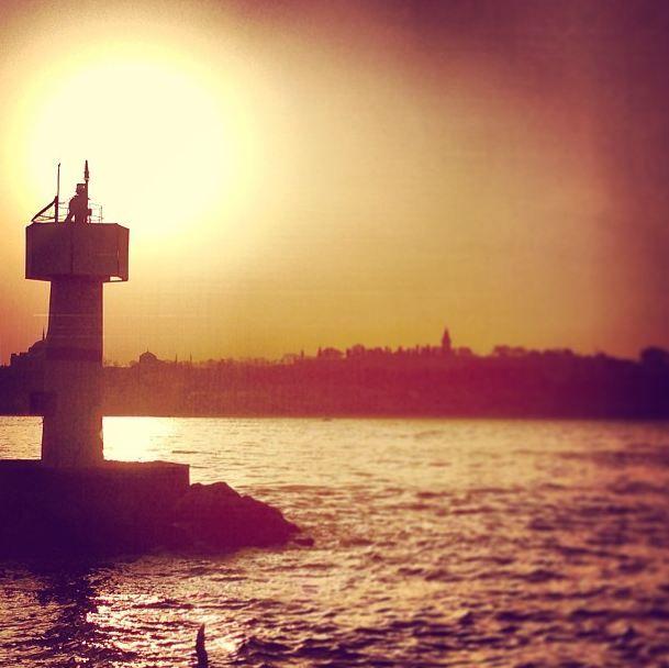#istanbul #sunset #lighttower