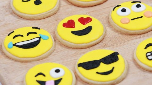 Make emoji cookies with this video tutorial. :)