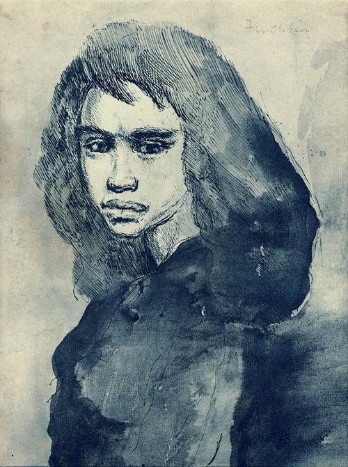 Some of MervynPeake's illustrations:  From Gormenghast - Fuchsia Groan, ink drawing