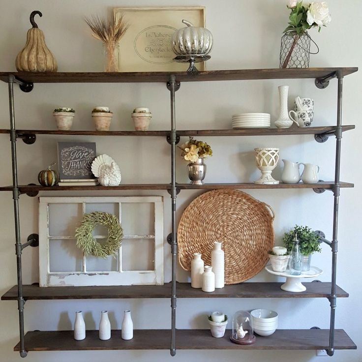 DIY Industrial Pipe Shelves are an easy weekend project that require no special skills. Here is a budget-friendly step-by-step guide to make your own.