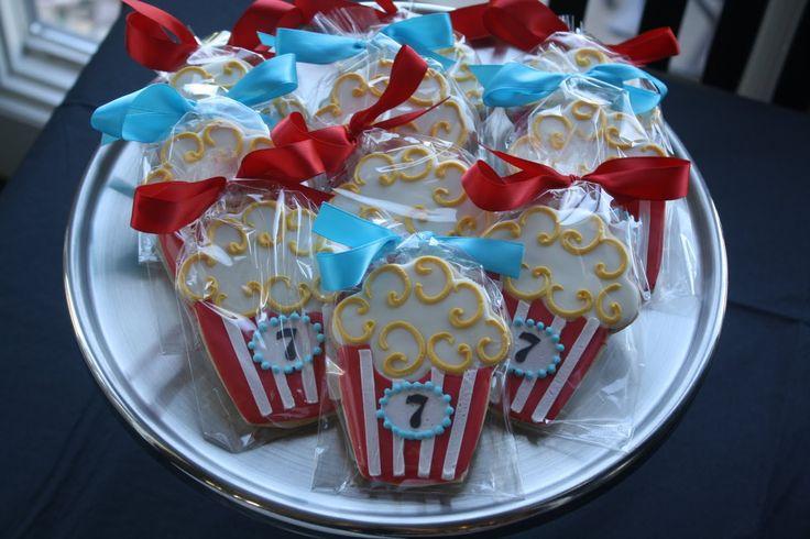 Movie Themed Birthday Party Cake | Meringue: Outdoor Movie Night Birthday Party