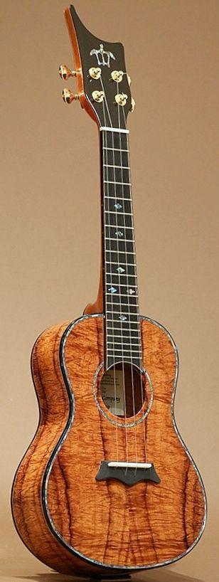 Rich Godfrey Koa Works Premium Concert Hawaiian Ukulele --- https://www.pinterest.com/lardyfatboy/