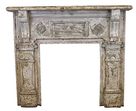Salvaged Wood Fireplace Mantel   Columbus Architectural Salvage88 best Salvaged Fireplace Mantels images on Pinterest  . Old Wood Fireplace Mantels. Home Design Ideas