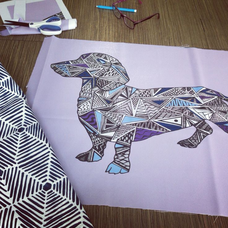 Working on our dachshund design