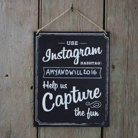 Chalkboard Wooden Instagram Sign