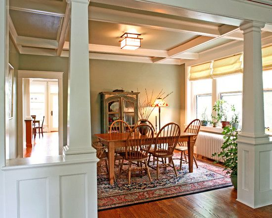 17 best ideas about craftsman columns on pinterest for Dining room designs with pillars