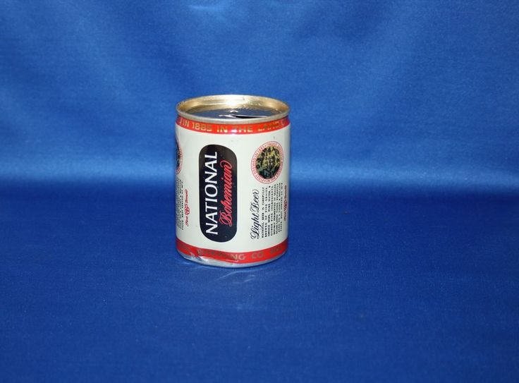 Vintage Carling NATIONAL Bohemian Light Beer Aluminum Can 8 FL OZ Opened Empty #NATIONALBohemianBeer