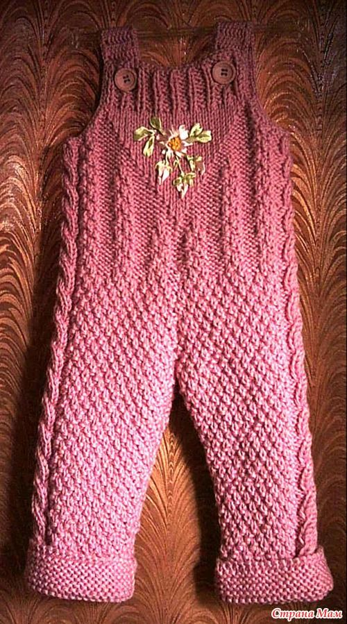 Baby coat and pants with embroidery
