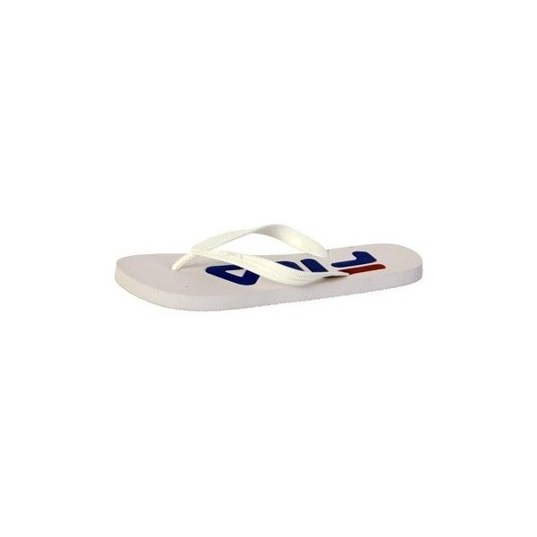 Fila Flip Flops  Troy Slipper White Flip flops / Sandals (Shoes) ($17) ❤ liked on Polyvore featuring shoes, sandals, flip flops, white, women, fila shoes, white shoes, fila footwear and fila