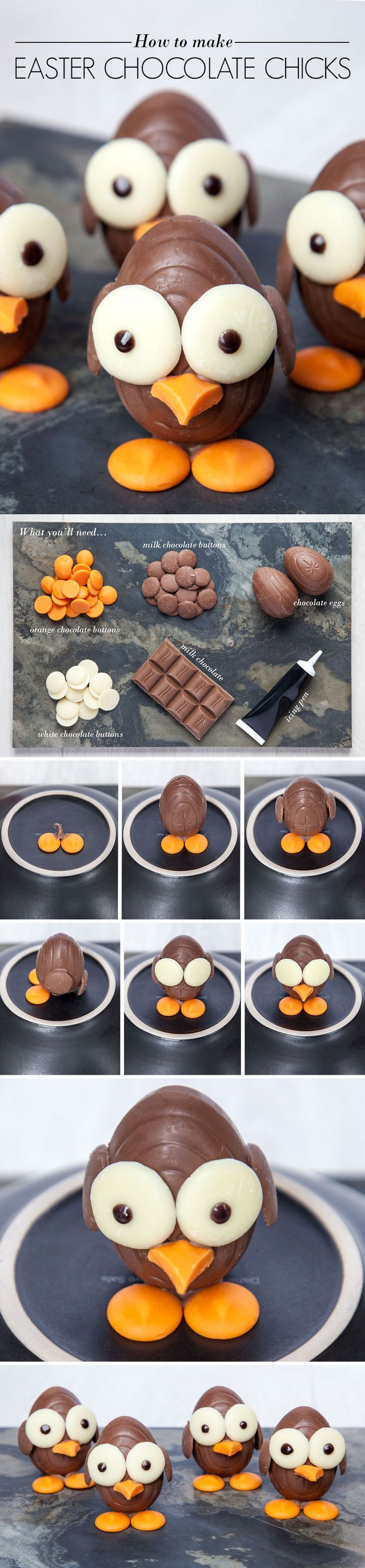 Step by Step Guide to making chocolate chicks!! (from the creator Emily Leary of http://amummytoo.co.uk)